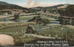 Middlesex Valley, From Champlain Valley Railroad, Greetings From The Green Mountain State, Vermont - United States