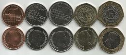 Jordan 2008-2012. High Grade Set Of 5 Coins - Jordanie
