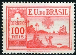 BRAZIL # 162  - DISCOVERY OF BRAZIL - 4th  CENTENARY  -  MH  - 1900 - Unused Stamps