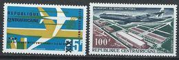 Centrafrique YT PA 46-47 XX / MNH Aviation - República Centroafricana