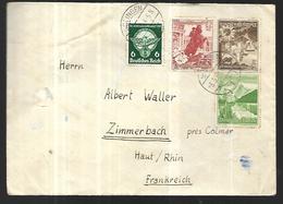 Reich III  Lettre De Solingen Pour Zimmerbach ( Alsace ); Du  03  05 1939 - Allemagne