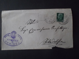 REGNO ITALIA BIGLIETTI CON OVALE DI FRANCHIGIA COMUNALE CURINGA REGIE POSTE 1931 - 1900-44 Vittorio Emanuele III