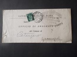 REGNO ITALIA BIGLIETTI CON OVALE DI FRANCHIGIA COMUNALE GOVERNATORATO REGIE POSTE 1942 - Franchigia