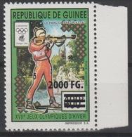 Guinée Guinea 2009 Mi. 6763 Surchargé Overprint Winter Olympic Games Lillehammer 1994 Vancouver 2010 Jeux Olympiques Ski - Invierno 2010: Vancouver