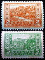 1922 Albanie Yt 120, 121 .  Kanina /   Gjirokastër  Neuf Trace Charnière - Albanie