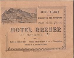 1901 Guide Chemins De Fer Suisse Indicateur Annuaire Train Guide Mignon - Chemin De Fer