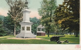Soldiers Monument And Band Stand, Brattleboro, Vermont - United States