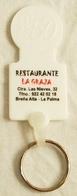 Moneda Para Carro En Plástico Con Publicidad De Restaurante La Graja - La Palma. - Moneda Carro