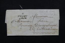 """FRANCE - Cursive """" 41 Saint Georges D 'Auriac """" Sur Lettre Pour La Chaise Dieu En 1850 - L 22981 - Marcophilie (Lettres)"""