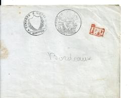 Papiers D'Affaire / Bordeaux , Place St Rémi Avec Taxe Matérialisée Par Plusieurs Cachets , 1849 - Marcophilie (Lettres)