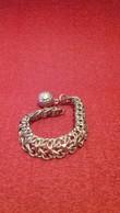 Bracelet Trés Ancien En Argent- 9cm - Bracelets