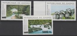 Guinée Guinea 2008 Mi. 6235/6238 Surchargé Overprint Barrages Garafiri Wasserbau RARE - Guinea (1958-...)