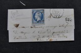 FRANCE - Lettre Pour Mr. Le Comte De  Pourtalès à St Cyr Sous Dourdan , Affranchissement Napoléon N°10 - L 22983 - Marcophilie (Lettres)