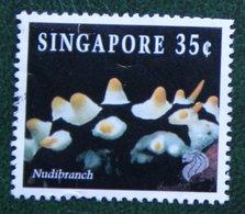 35 C Coral & Reef Marine Life Definitives NUDIBRANCH 1994 Mi 714 Used Gebruikt Oblitere SINGAPORE SINGAPUR - Singapur (1959-...)