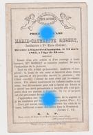 Marie Catherine ROBERT Institutrice à Ste Marie Dcd à COGNELEE CHAMPION 1864 - Décès
