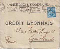 Lettre D'Egypte 1934 Crédit Lyonnais Alexandrie Pour La France - Égypte