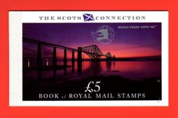 1989 - OVERPRINTED PRESTIGE BOOKLET -  DX10 / MNH - THE SCOTS CONNECTION - Markenheftchen