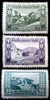 1922 Albanie Yt 124,125,126 .Rozafat Fortress, Shkoder / Korcha / Dursit / Durrës  .   Neuf Trace Charnière - Albanie