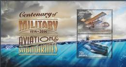 2014 Century Of Military Aviation & Submarines Australia Minisheet Set MNH - Blocks & Sheetlets