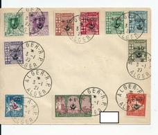 """Lettre Algérie Avec 11 Valeurs De La Série """"Au Profit Des Soldats Algériens..."""" , 1927 - Algérie (1924-1962)"""