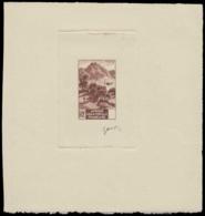 AFRIQUE EQUATORIALE Epreuves  214 Epreuve D'artiste En Brun, état Sans Faciale: Palmiers. - A.E.F. (1936-1958)