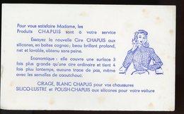 BUVARD:  CIRE CHAPUIS - FORMAT  Env. 13,5X22,5 Cm - Chaussures