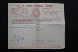 VIEUX PAPIERS - Formulaire De La Compagnie Des Câbles Télégraphiques - Télégramme De Havas Pour Paris En 1918 - L 22984 - Vieux Papiers