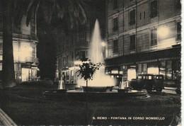 S.REMO DETTAGLI FONTANA IN CORSO MOMBELLO NOTTURNO ANNO 1952 VIAGGIATA - San Remo