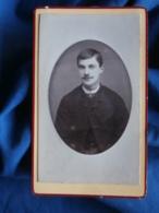 Photo CDV Goldberg à Montmédy  Portrait Jeune Homme  Cravate à Pois CA 1885-90 - L424A - Fotos