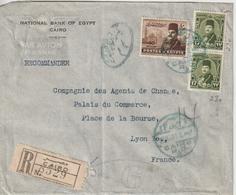 Lettre Recommandée 1949 D'Egypte Pour La France - Cartas