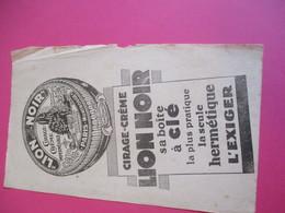 Buvard/LION NOIR/Cirage-crême ImperméableSa Boite à Clé/Pratique Hermétique/1935-1955  BUV312 - Waschen & Putzen