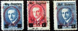 Albanie President Ahmed Zogu Surchargés  Neuf Trace Charnière - Albanie