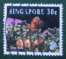 30 C Coral & Reef Marine Life Definitives CLOWNFISH Fish 1994 Mi 713 Used Gebruikt Oblitere SINGAPORE SINGAPUR - Singapur (1959-...)