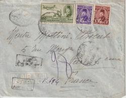 Lettre Recommandée 1951 D'Egypte Pour La France - Ägypten