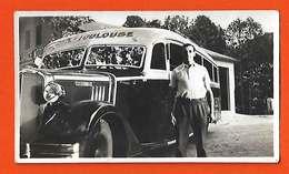 09 Bus Chevrolet Ligne Ax Toulouse 1935 Chauffeur Pascal Garage Moderne Sans éditeur Dos Scanné - Ax Les Thermes