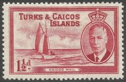 Turks & Caicos Islands. 1950 KGVI. 1½d MH. SG 223 - Turks And Caicos