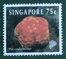 75 C Coral & Reef Marine Life Definitives PIN CUSHION STAR 1994 Mi 717 Used Gebruikt Oblitere SINGAPORE SINGAPUR - Singapur (1959-...)