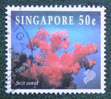 50 C Coral & Reef Marine Life Definitives SOFT CORAL 1994 Mi 716 Used Gebruikt Oblitere SINGAPORE SINGAPUR - Singapur (1959-...)