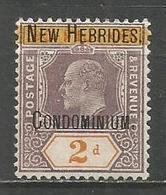 NUEVA HEBRIDES YVERT NUM. 7 NUEVO SIN GOMA - English Legend