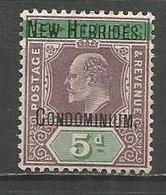 NUEVA HEBRIDES YVERT NUM. 9 NUEVO SIN GOMA - English Legend