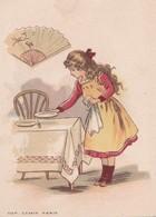 Calendrier 1903 Chocolat Besnier ,Le Mans ,éventail Fillette - Petit Format : 1901-20