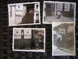 Bischeim 4 Photos Anciennes  Dépôt De Bière MUTZIG Et Eau CAROLA - France