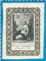 Holycard    St. Justine - Santini