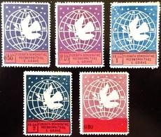 1946 Albanie Yt 336, 337, 338, 339, 340   Globe, Dove And Olive Branch. Neuf Trace Charnière Légère Trace - Albanie