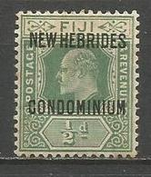 NUEVA HEBRIDES YVERT NUM. 20 * NUEVO CON FIJASELLOS - English Legend