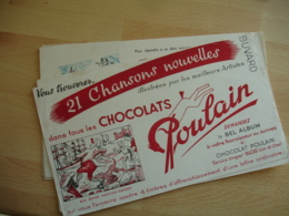 Lot 6 Buvards Buvard Chocolat Poulain - Chocolat