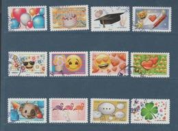 """FRANCE / 2018 / Y&T N° AA 1558/1569 : """"Emoji"""" (Série Complète 12 TP) - Choisis - Tous Cachets Ronds - Adhésifs (autocollants)"""