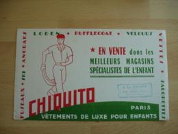 Pelote Basque Chiquito Vetement Cachet A La Pensee Vernon   Buvard Buvards - Buvards, Protège-cahiers Illustrés