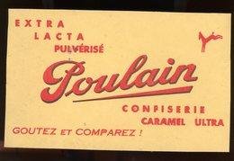 BUVARD:  CHOCOLAT POULAIN - FORMAT  Env. 12,5X20,5 Cm - Chocolat