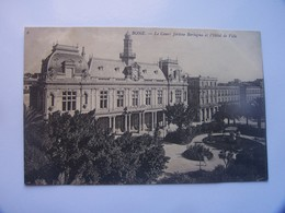 5-4-------------bone Le Cours Jerome Bertagna Et L Hotel De Ville----------voir Recto Verso - Autres Villes